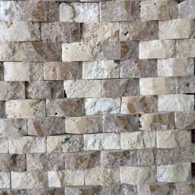 Mozaic - Travertin Noce si Classic 3D - Mozaic si alte tipuri de piatra naturala - MARMUR_ART