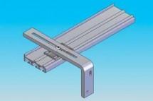 Prinderea de perete prin console metalice - Panouri glisante - Variante de montaj
