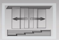 Variante de dispunere in incapere  - Panouri glisante - Variante de dispunere in incapere