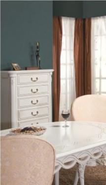 Comoda inalta cu 6 sertare Flora - Mobila sufragerie lemn masiv Flora
