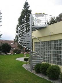 Scara metalica elicoidala de exterior - Scari cu structura metalica