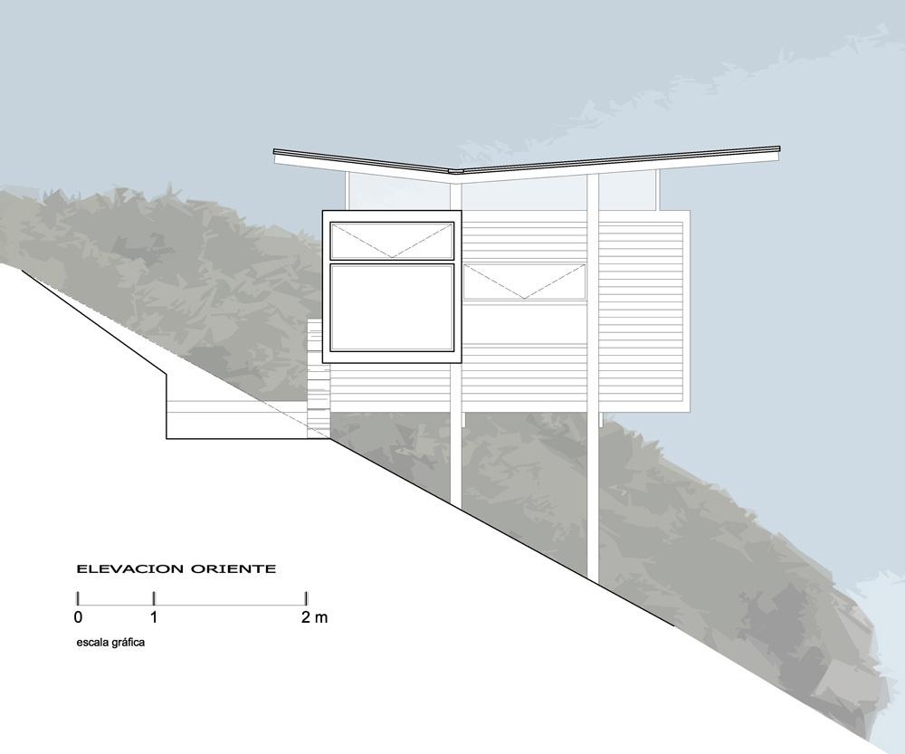 Sectiune transversala - Frumusete la inaltime - casa construita la buza prapastiei cu privelisti ce va