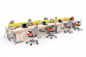 Ansamblu 8 birouri curbe cu panouri despartitoare-KABRC16 P160 x2 - Solutii complete executive - program KAPPA