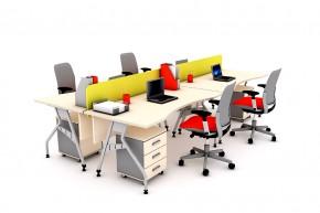 Ansamblu 4 birouri curbe cu panouri despartitoare-KABRC16 P160 - Solutii complete executive - program KAPPA