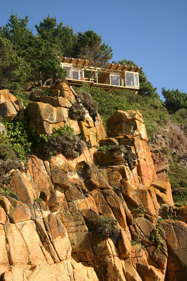 Casa din Buchupureo, construita pe coasta stancoasa a oceanului Pacific - Frumusete la inaltime