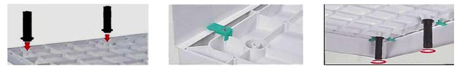 Optional se pot utiliza masti si picioare pentru aceste cadite de dus ce includ si cleme