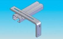 Prinderea de perete prin console metalice - Jaluzele verticale - Variante de montaj