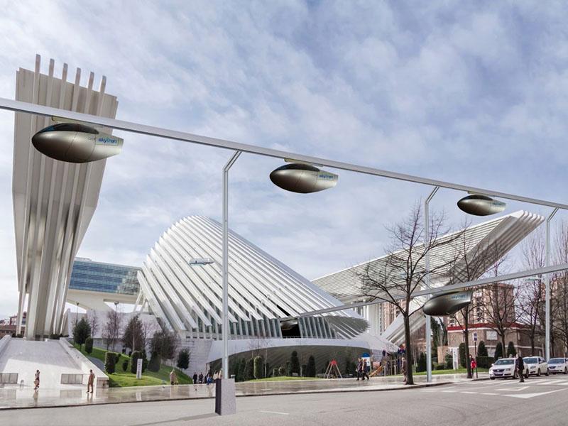 Reteaua de telegondole pentru transportul in comun ce va fi construita la Tel Aviv - Reteaua