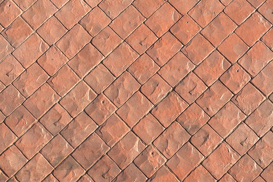 Beton amprentat - detaliu - Cinci sfaturi pentru o pavare reusita cu beton amprentat sau colorat