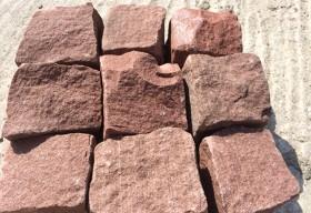 Piatra cubica rosie - Piatra naturala - MARMUR-ART