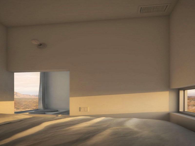 Dormitor cu vedere spre rasarit  - Four Eyes House