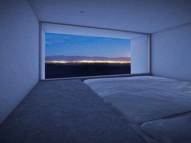 Dormitor cu vedere spre privelistea orasului - Four Eyes House