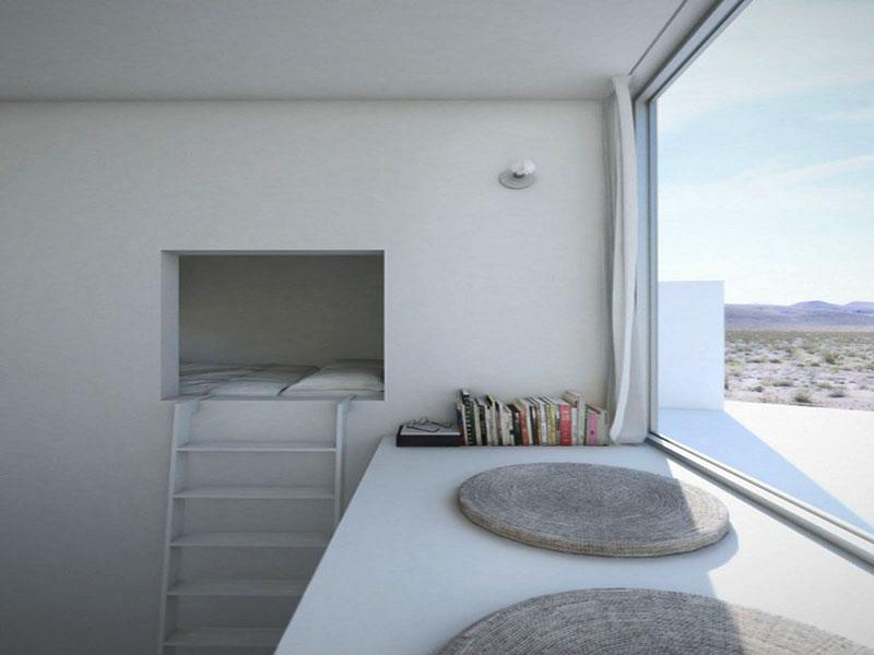 Dormitor cu vedere spre munti - Four Eyes House