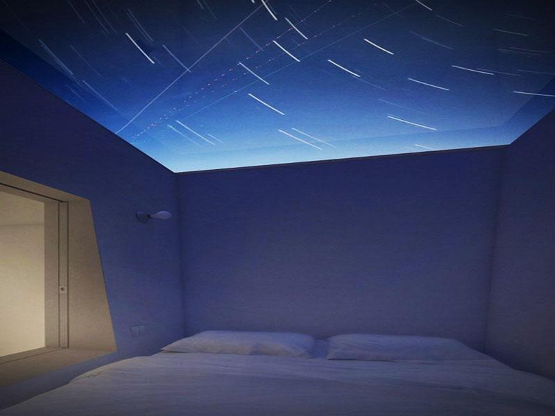 Dormitor cu vedere catre cer - Four Eyes House
