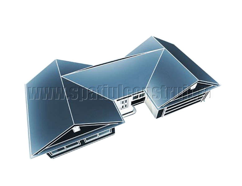 Schema de principiu a unui acoperis cu panta - Acoperisuri cu panta