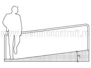 Rampa cu inclinatie de 8° - Rampe si scari cu panta redusa