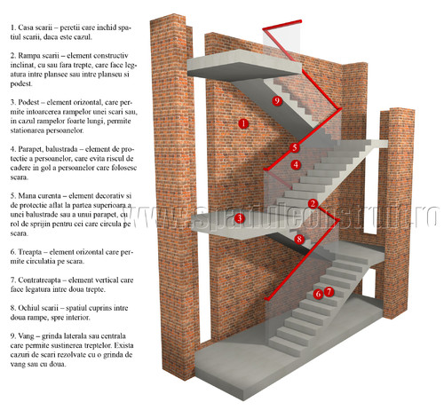 Elementele principale ale unei scari - Elementele principale ale unei scari