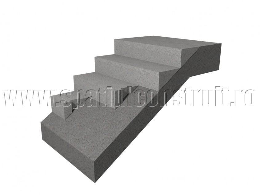 Scara din beton armat: montarea treptelor prefabricate - Scari din beton armat