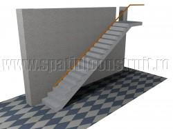 Scara cu o rampa dreapta - Forma rampelor