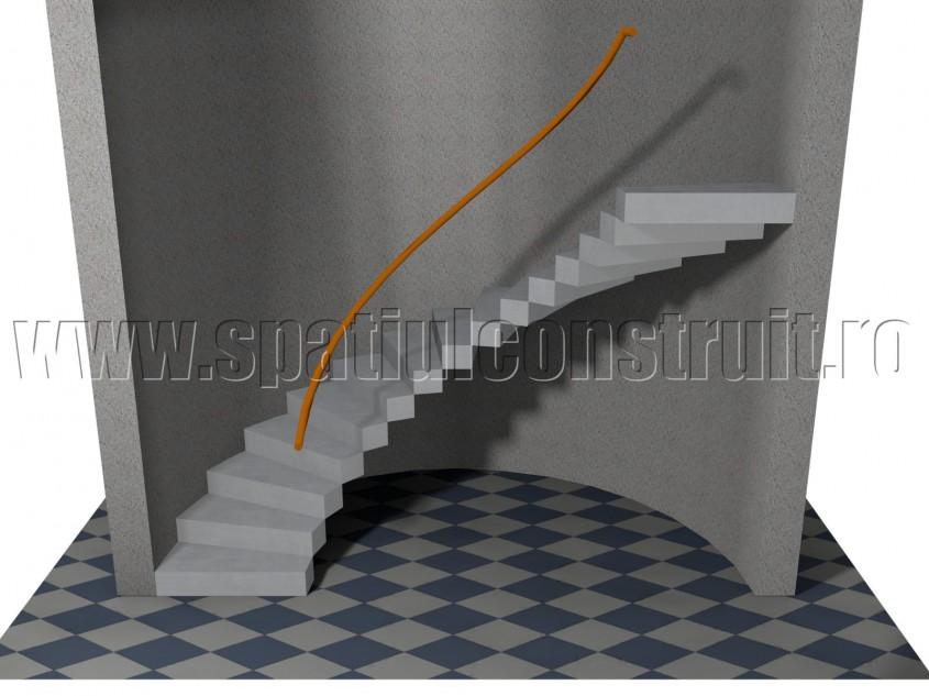 Scara cu rampa rotunda - Forma rampelor