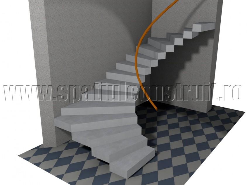 Scara cu trepte balansate - Forma rampelor