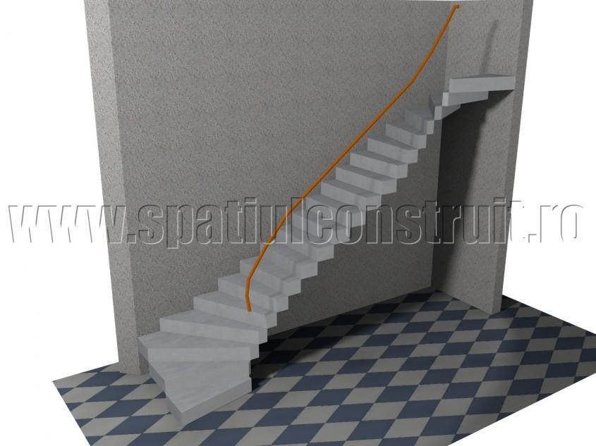 Rampa dreapta cu trepte balansate - Forma rampelor