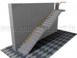 Scara cu doua rampe, cu podest intermediar - Forma rampelor