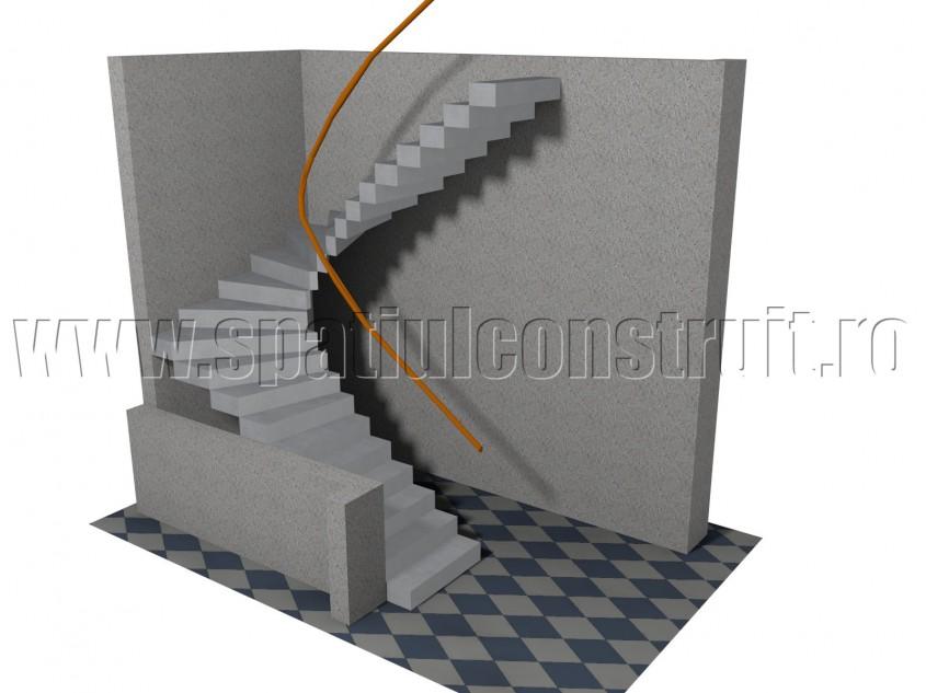 Scara balansata cu doua rampe - Forma rampelor