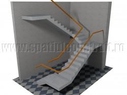 Scara cu patru rampe - Forma rampelor