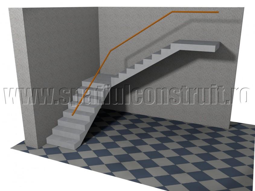 Scara cu doua rampe la 90 de grade, cu podest intermediar - Forma rampelor