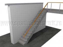 Scara cu trepte din beton - Materiale pentru trepte