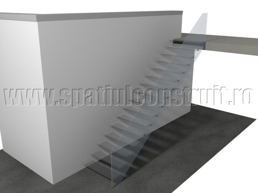 Scara cu trepte din sticla - Materiale pentru trepte
