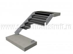 Scara pe structura de metal, cu vanguri laterale si trepte metalice - Scari pe structura de metal