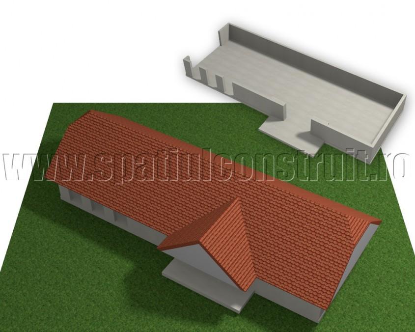 Acoperis cu forma simpla - Forma in plan a peretilor determina forma acoperisului