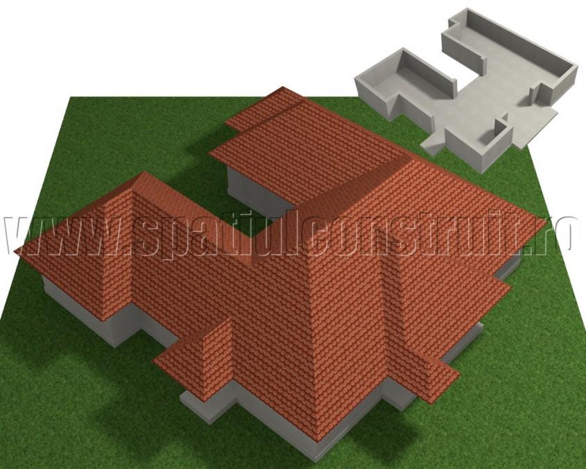 Acoperis cu forma complexa - Forma in plan a peretilor determina forma acoperisului