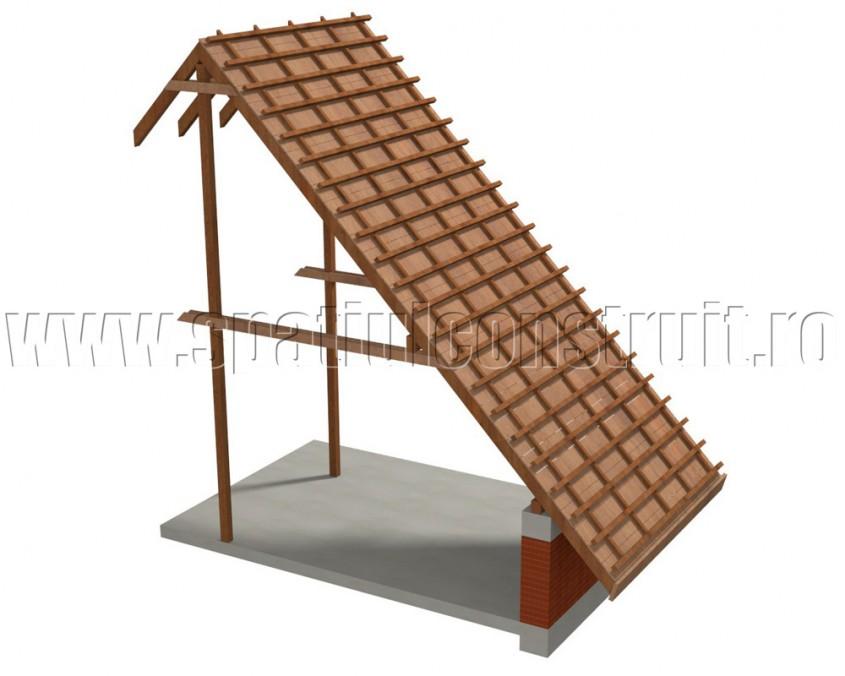 Acoperis cu sarpanta din lemn cu astereala - Tipuri de sarpante