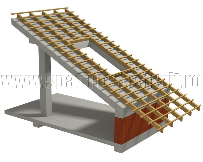 Acoperis cu placa de beton - Tipuri de sarpante