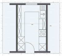 Bucatarie desfasurata pe lungime - Pozitionarea mobilierului in functie de forma bucatariei