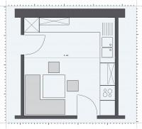 Bucatarie de trecere, cu doua usi - Pozitionarea mobilierului in functie de forma bucatariei