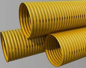 Tub flexibil gofrat pentru drenaj - Tevi si fitinguri PVC pentru canalizari exterioare