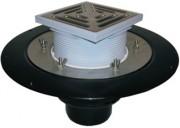 Gura de scurgere cu gratar pentru acoperis circulabil - Guri de scurgere pentru terase si balcoane