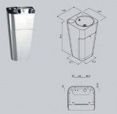 Chiuveta cu stativ - Accesorii pentru baie si grupuri sanitare - Xinox