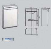 Cos de gunoi, 13 litri - Accesorii pentru baie si grupuri sanitare - Xinox