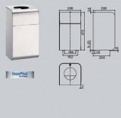 Cos de gunoi, 30 litri - Accesorii pentru baie si grupuri sanitare - Xinox