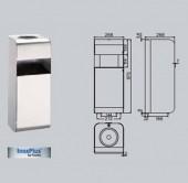 Scrumiera si cos de gunoi - Accesorii pentru baie si grupuri sanitare - Xinox