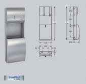 Combinatie cos de gunoi-dispenser de prosoape de hartie dozator de sapun, cu montaj ingropat - Accesorii pentru baie si grupuri sanitare - Stratos
