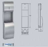 Combinatie dispenser de prosoape de hartie cos de gunoi - Accesorii pentru baie si grupuri sanitare - Stratos