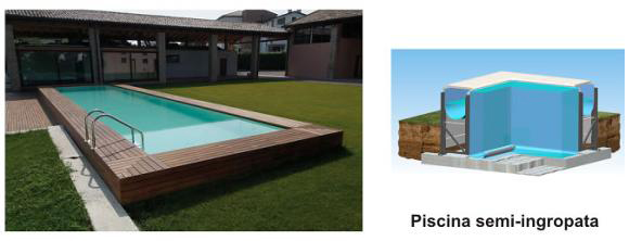 Piscina rezidentiala Bluespring - semi-ingropata - Tipuri de piscine rezidentiale Bluespring