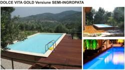 Piscina Dolce Vita Gold - Semi-ingropata - Tipuri de piscine rezidentiale Dolce Vita