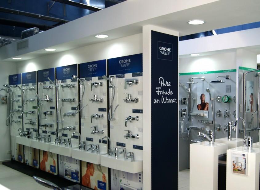 Baterii - In Showroom Laguna - Zone amenajate in functie de utilizare a produselor pentru baia